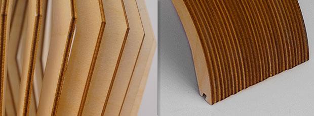 Detailansicht der Holzlamellen