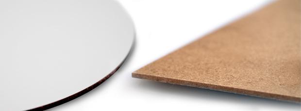 Detailansicht HDF Platte für Wanduhr