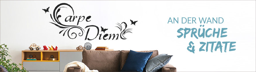 wandspr che zitate als wandtattoo bei. Black Bedroom Furniture Sets. Home Design Ideas