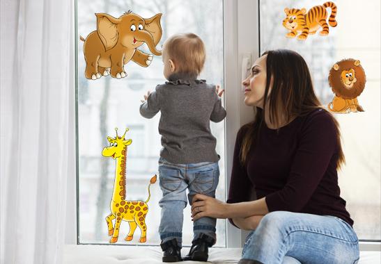 Fenstersticker Wilder Zoo