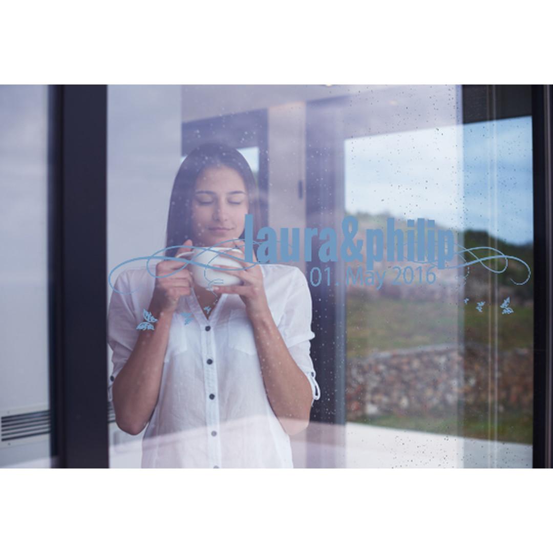 Glasdekor Wunschtext Frühlingshochzeit - CG10204