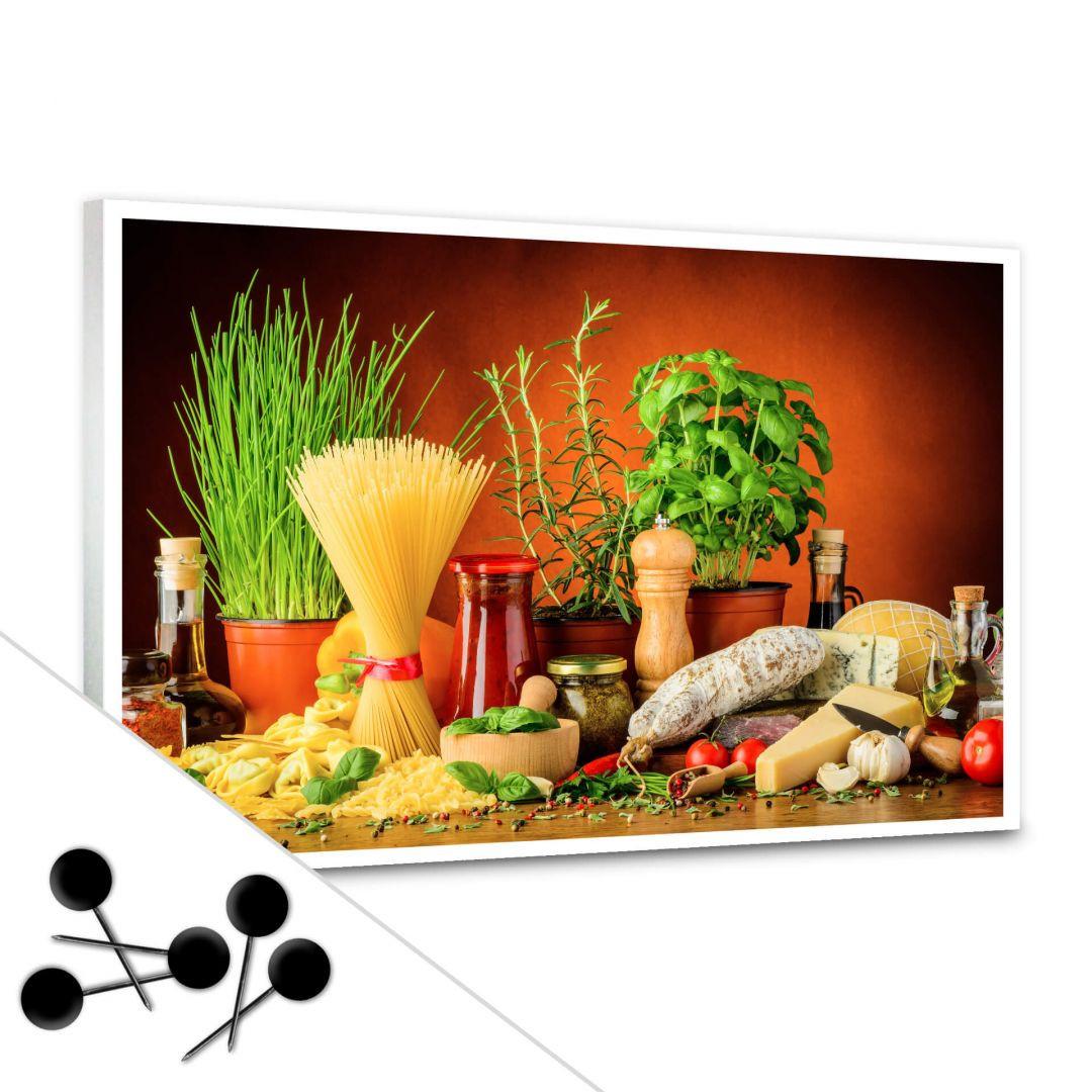 Pinnwand Italienisch Kochen inkl. 5 Pinnadeln - WA256649