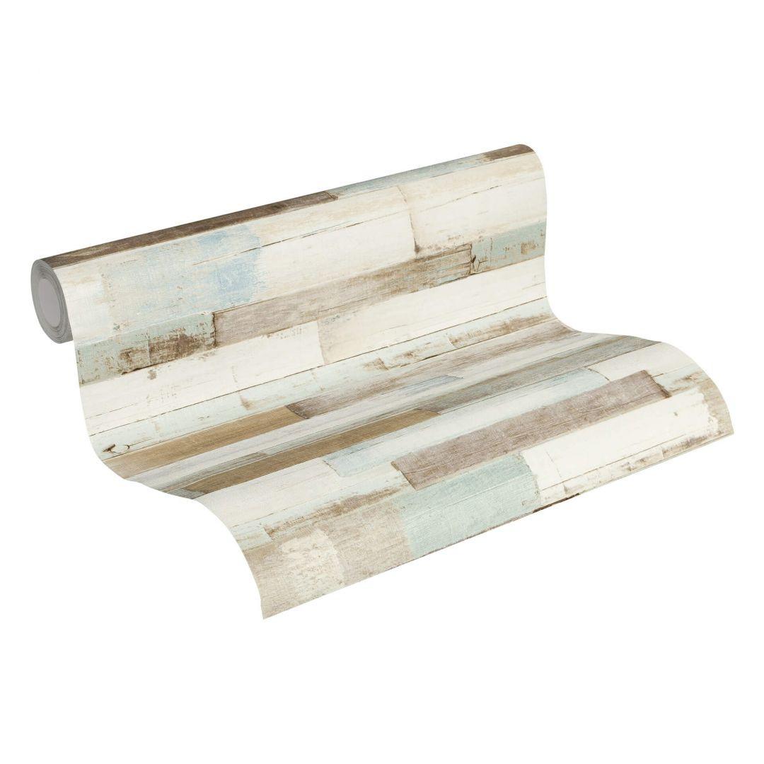 A.S. Création Vliestapete il Decoro Tapete in Vintage Holz Optik blau, braun, weiss - WA268367
