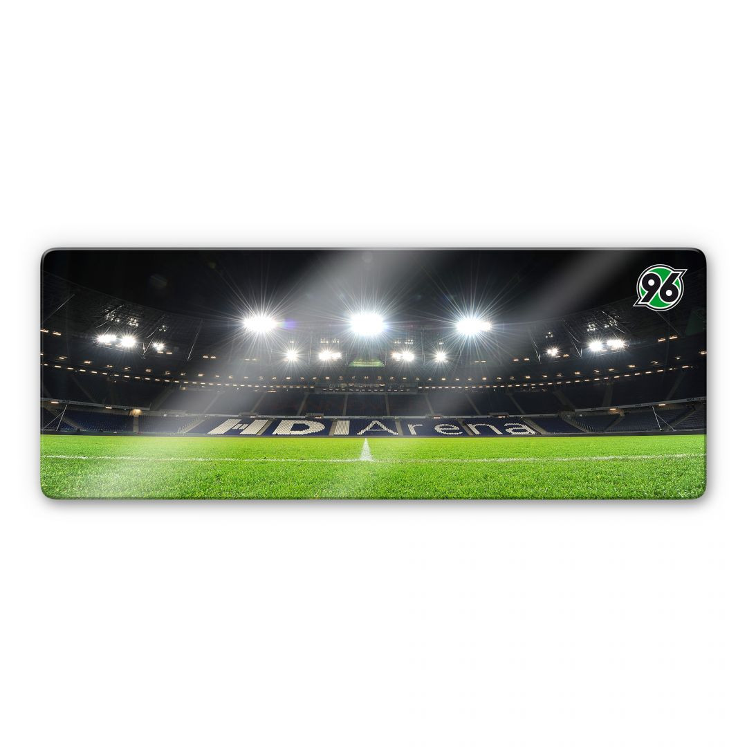 Glasbild Hannover 96 Hdi Arena Nacht Panorama
