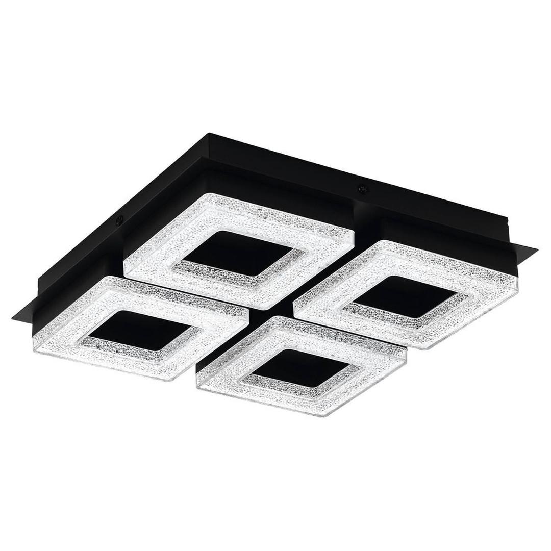 LED Deckenleuchte Fradelo in Schwarz und Transparent 4x 4W 6400lm - CL130154