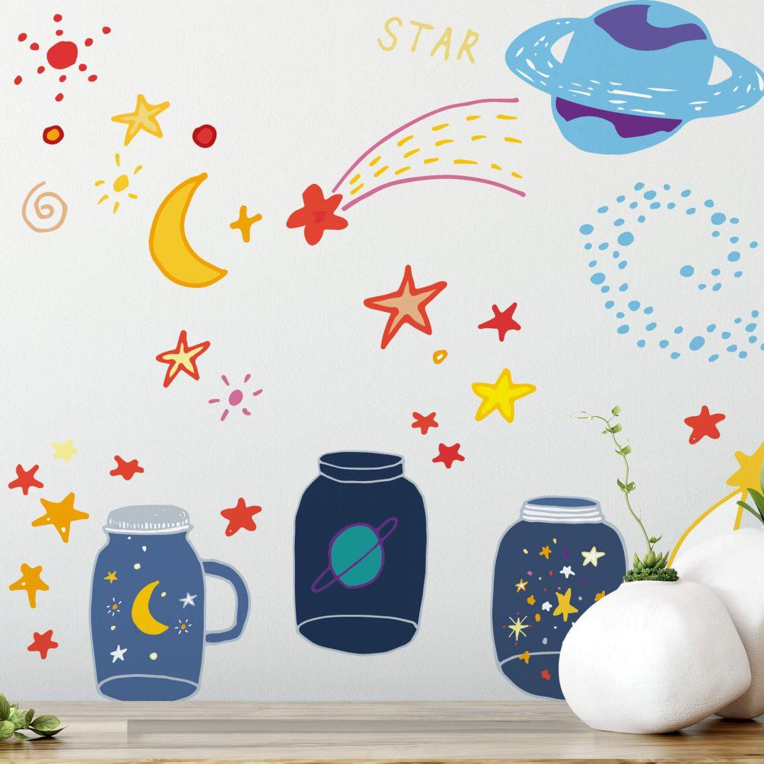 Wandtattoo Illustration Galaxien im Glas - WA283844
