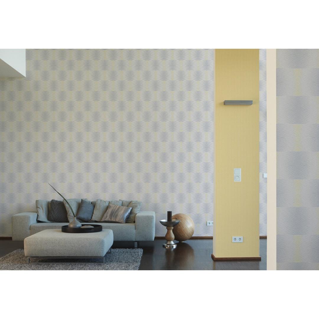 A.S. Création Mustertapete Vliestapete Cocoon Gelb, Grau - WA100902