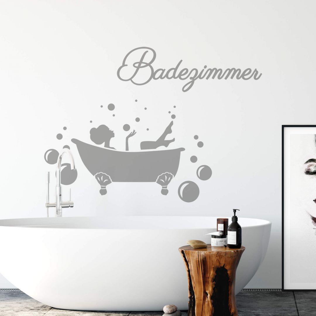 Wandtattoo Badezimmer 01 trenddeko