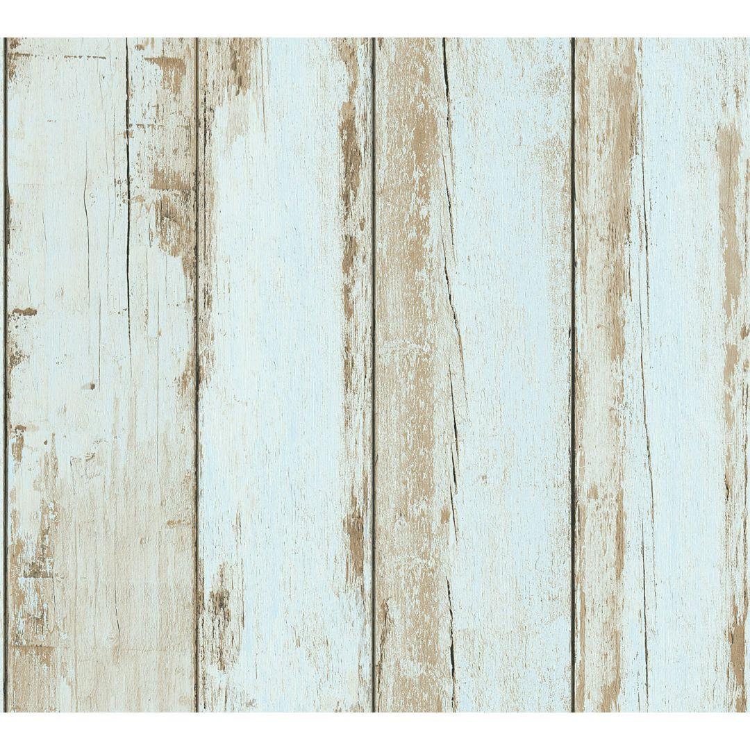 A.S. Création Vliestapete il Decoro Tapete in Vintage Holz Optik blau, braun, schwarz - WA268364
