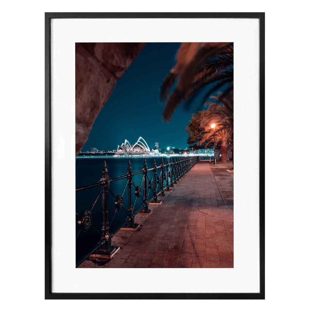 Poster Sydney bei Nacht - Die Promenade - WA259126