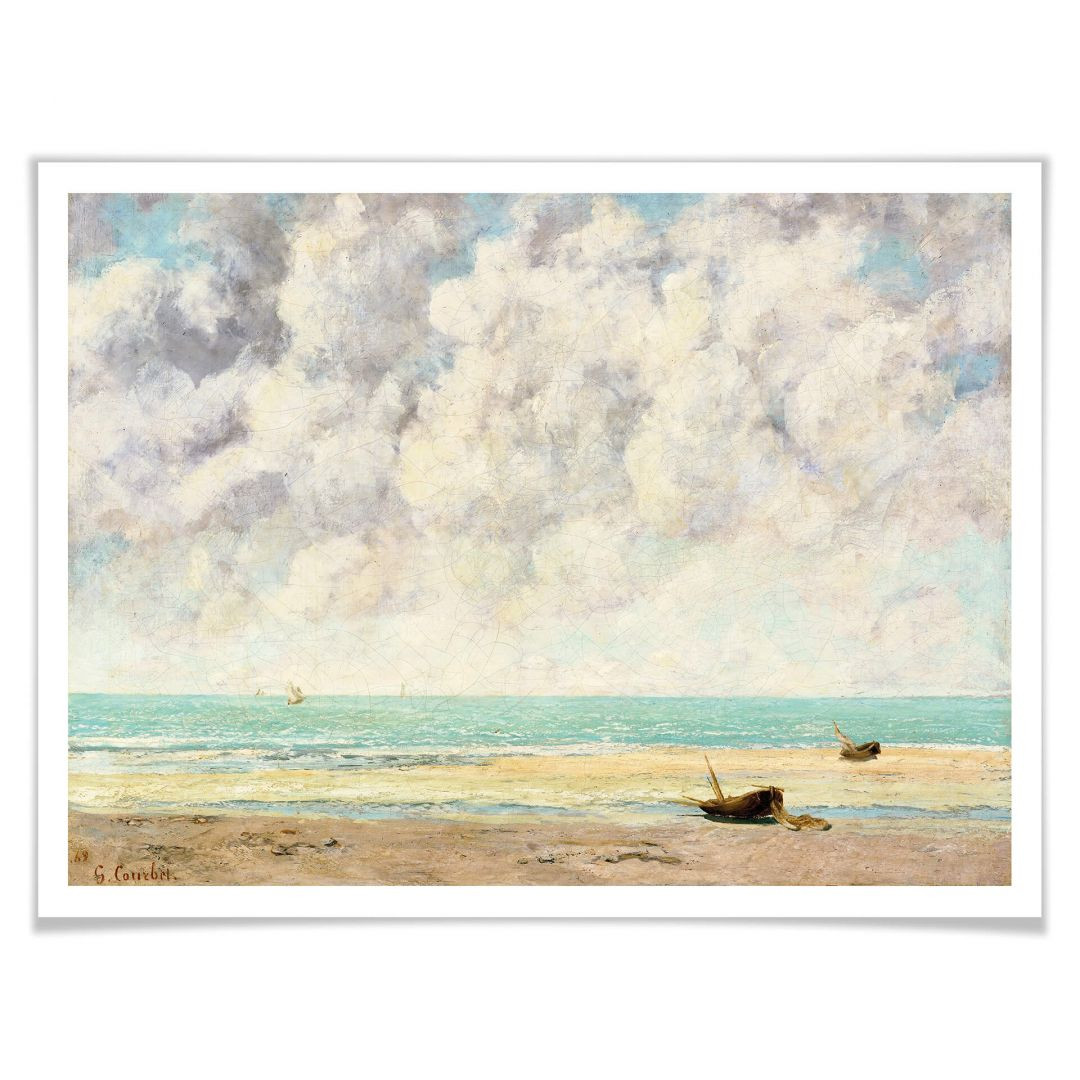 Poster Courbet - Die ruhige See - WA257115