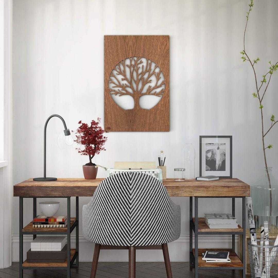 Dekobild Mahagoni - Baum des Lebens - WA288644