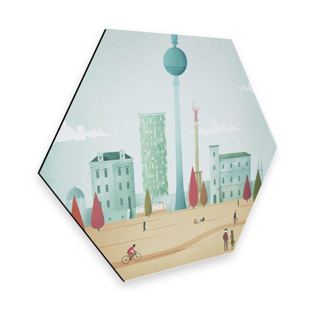 Hexagon - Alu-Dibond - Rivers - Berlin - WA253091