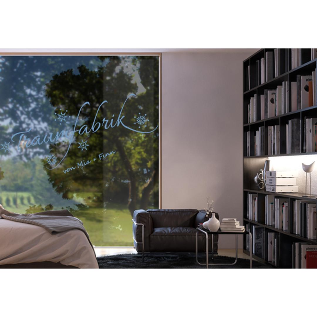 Glasdekor Wunschtext Unsere Traumfabrik - CG10199