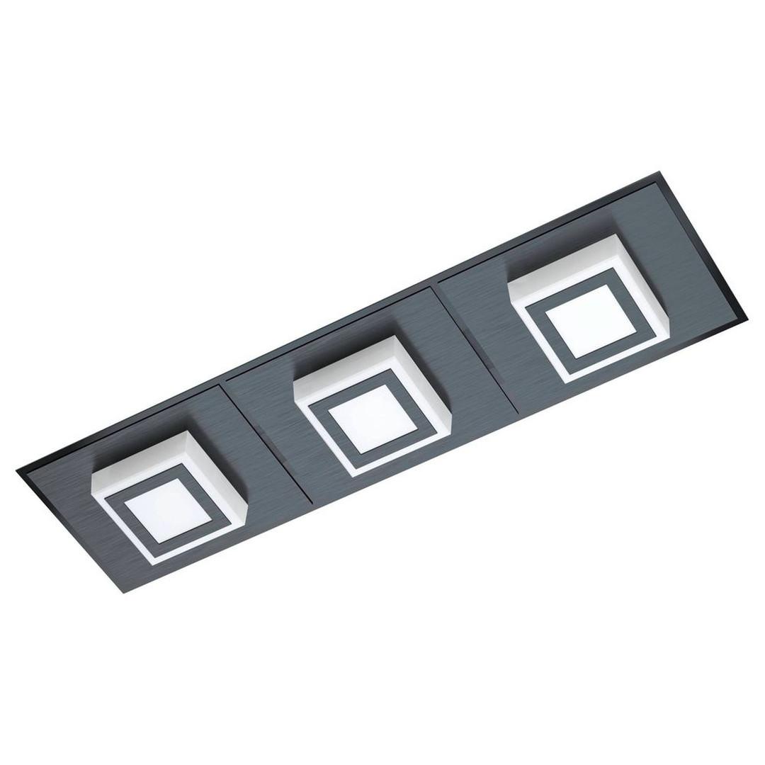 LED Wand- und Deckenleuchte Masiano in Schwarz 3x 3.3W 3060lm - CL130135