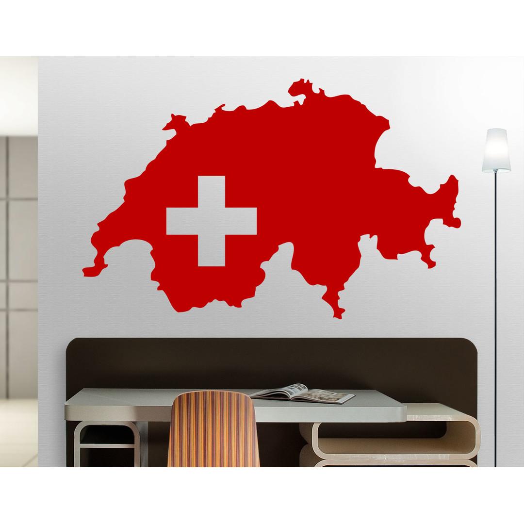 Wandtattoo Schweizer Karte - CG10109