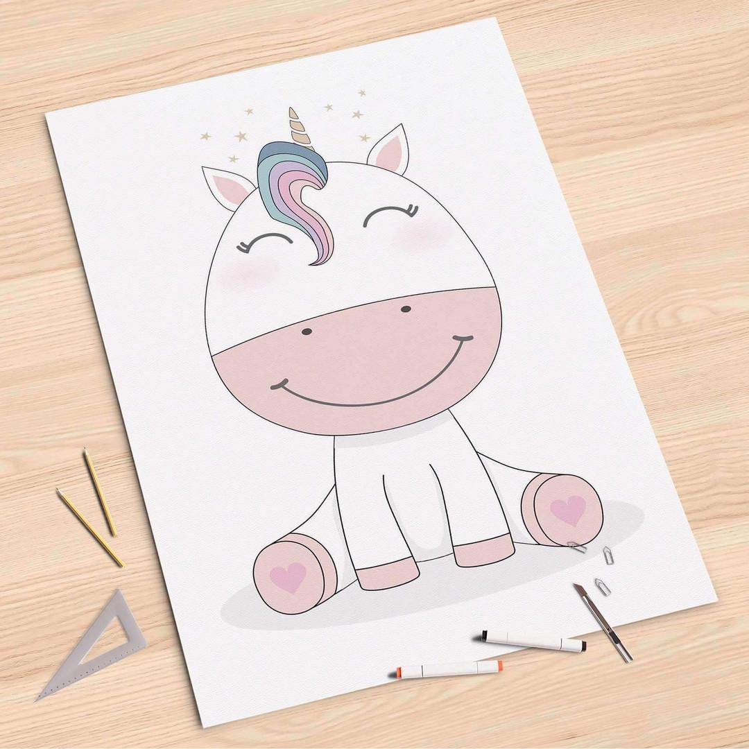 Folienbogen (80x120cm) - Baby Unicorn - CR107262