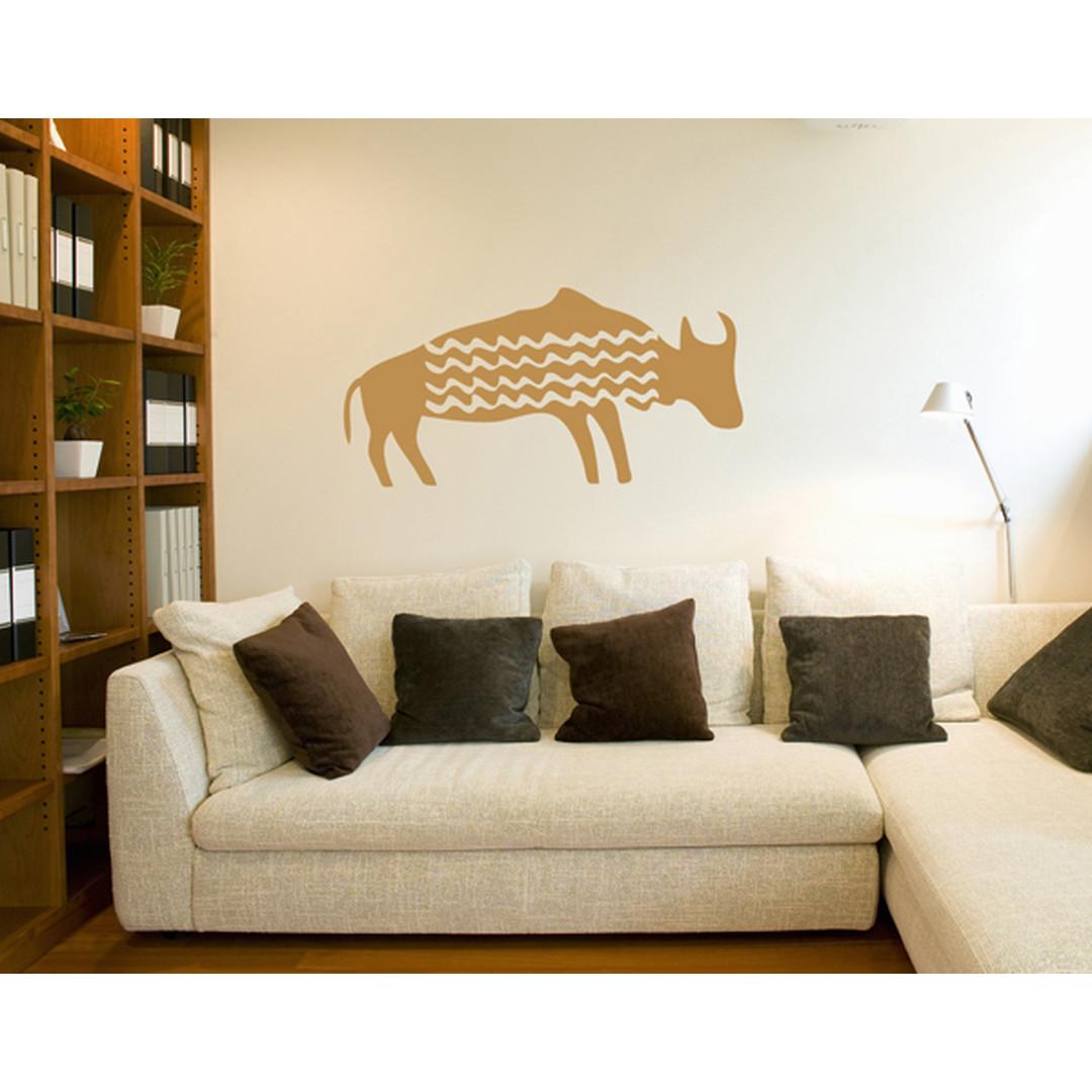 Wandtattoo Primitive Art Wasserbüffel - TD16936