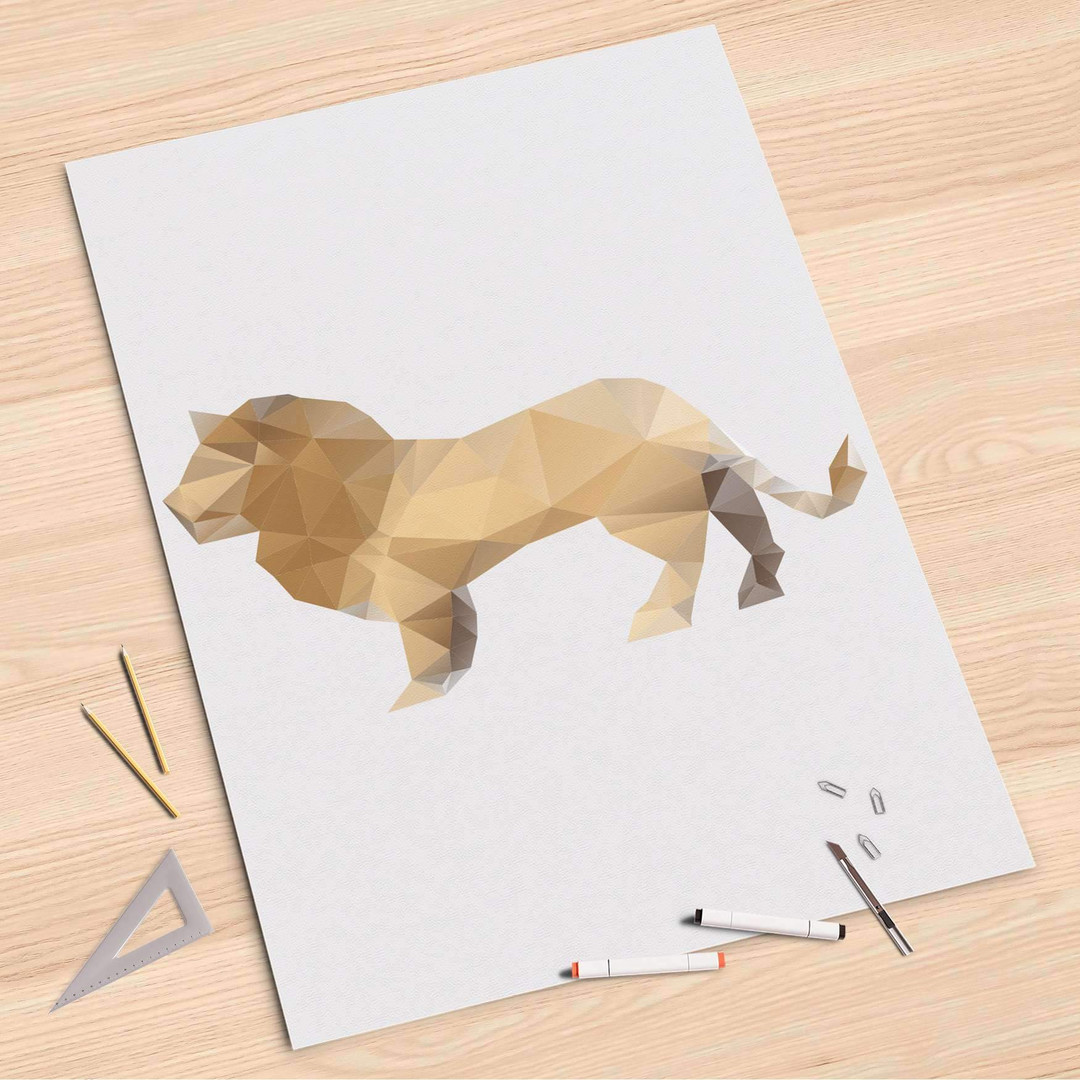 Folienbogen (80x120cm) - Origami Lion - CR107386