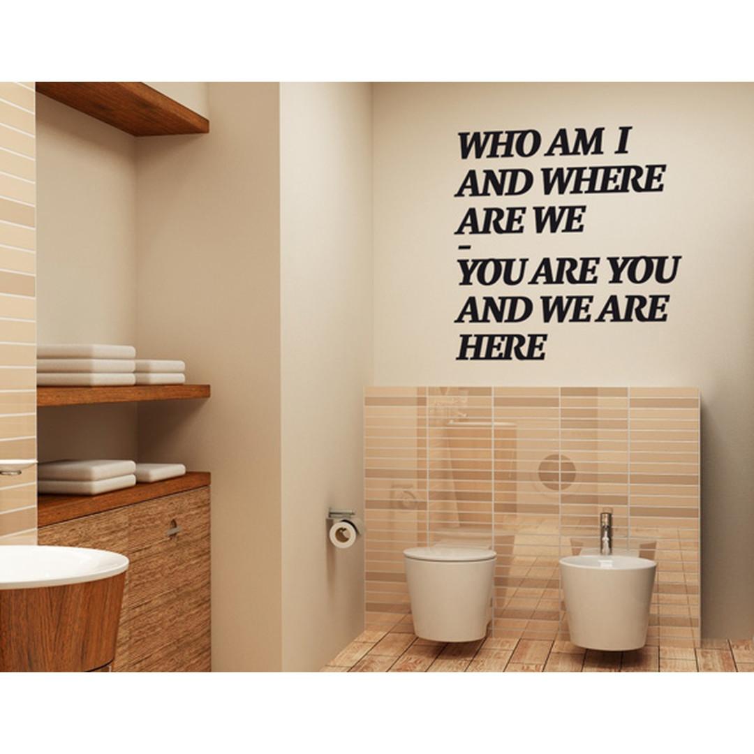 Wandtattoo Who am I? - TD16386