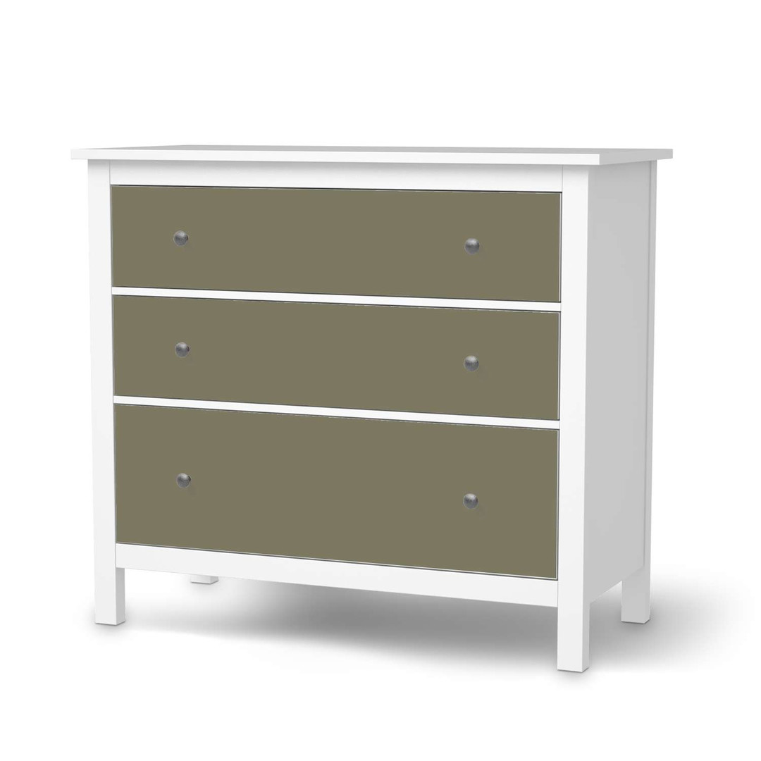 Möbelfolie IKEA Hemnes Kommode 3 Schubladen - Braungrau Light - CR114700