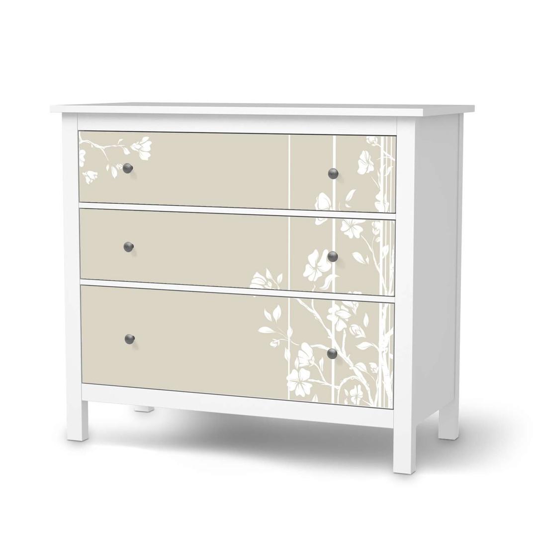 Möbelfolie IKEA Hemnes Kommode 3 Schubladen - Florals Plain 3 - CR114720