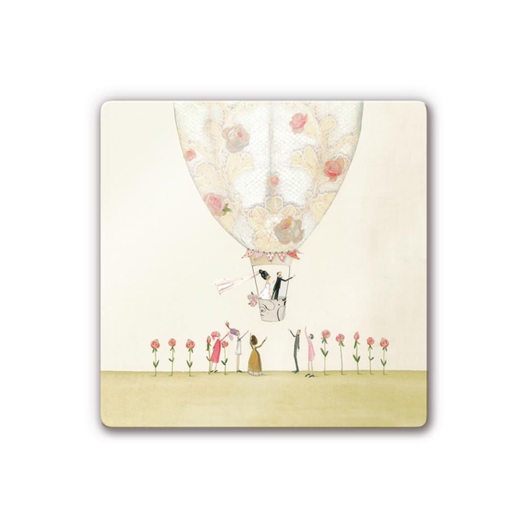 Glasbild Leffler - Hochzeitsballon - WA252929