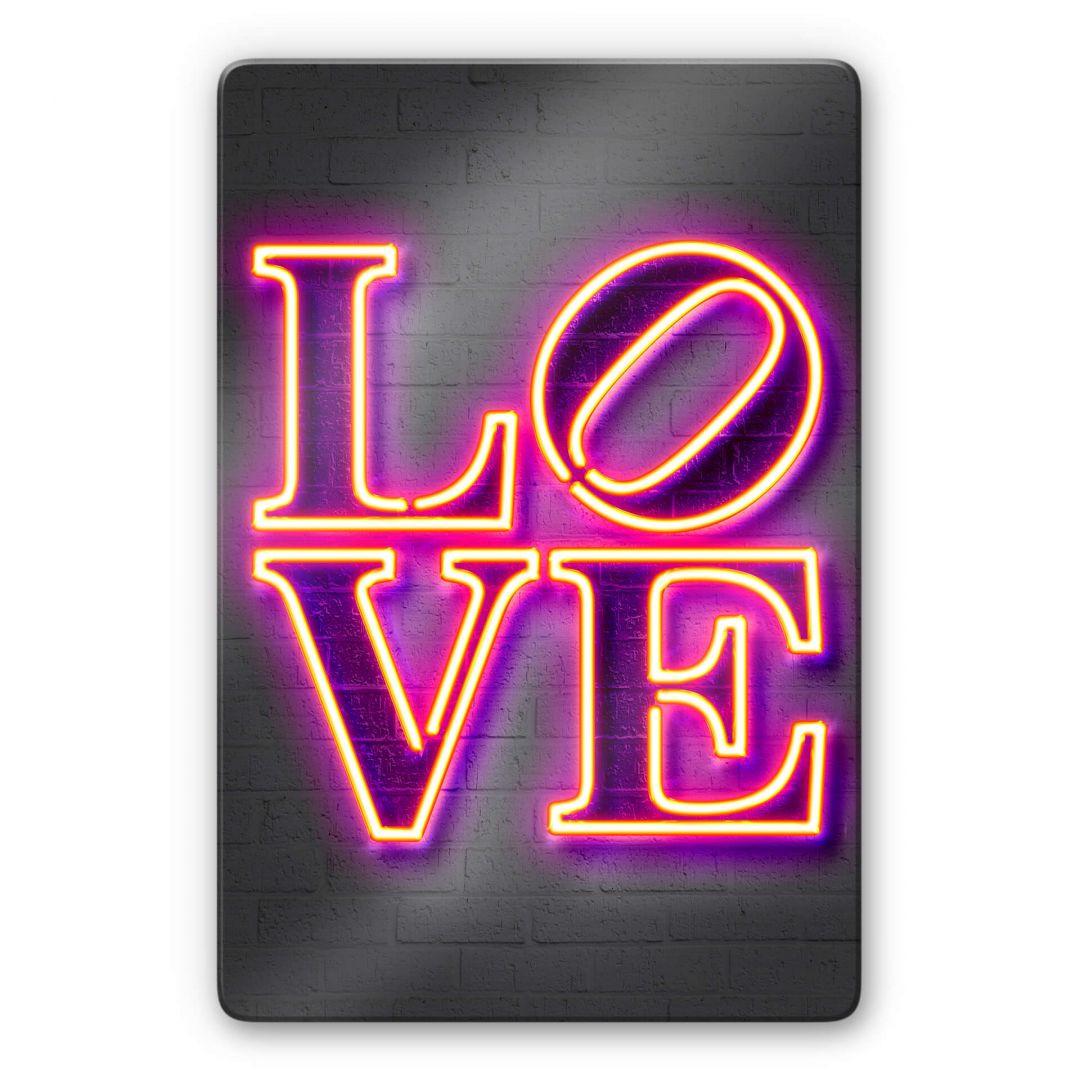 Glasbild Mielu - Love - WA288899