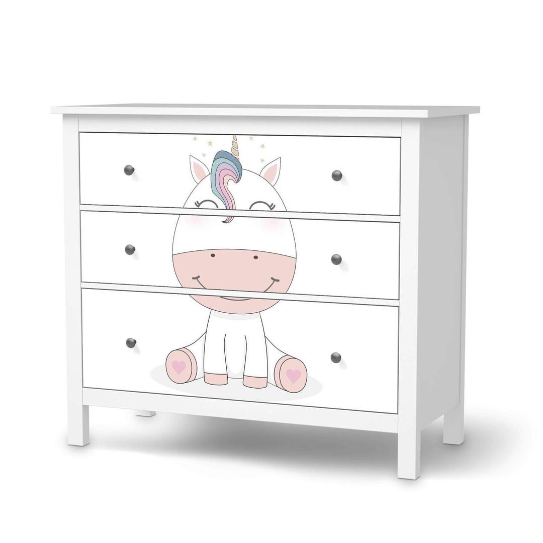 Möbelfolie IKEA Hemnes Kommode 3 Schubladen - Baby Unicorn - CR114687