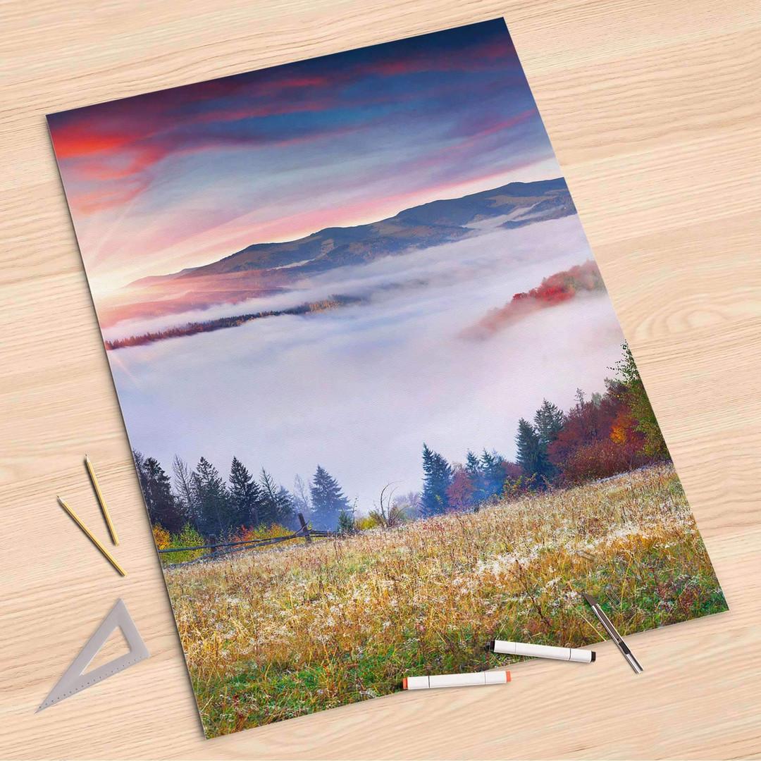 Folienbogen (80x120cm) - Herbstwald - CR107346