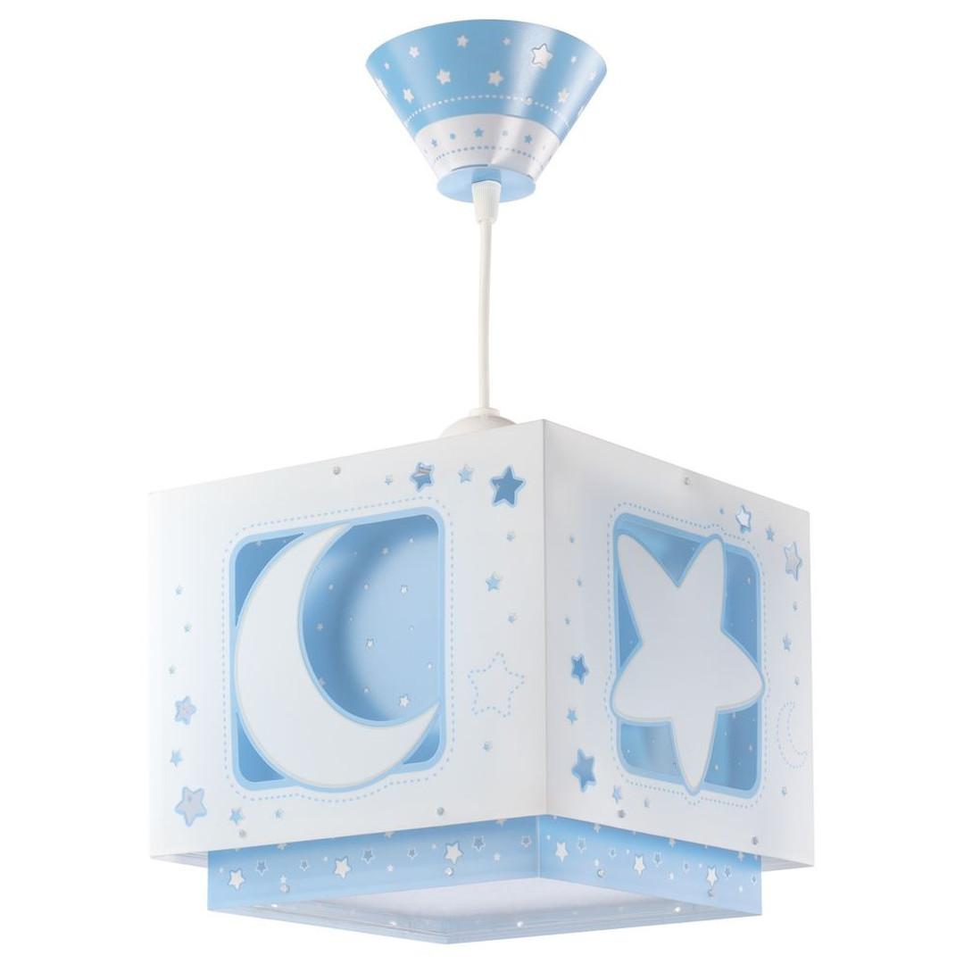 Kinderzimmer Pendelleuchte Moonlight in Blau fluoreszierend E27 - CL119704
