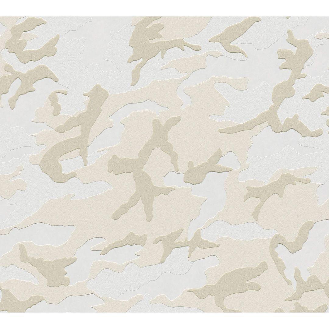 A.S. Création Vliestapete Boys & Girls 6 Tapete mit Camouflage Muster creme, grau, weiss - WA267861