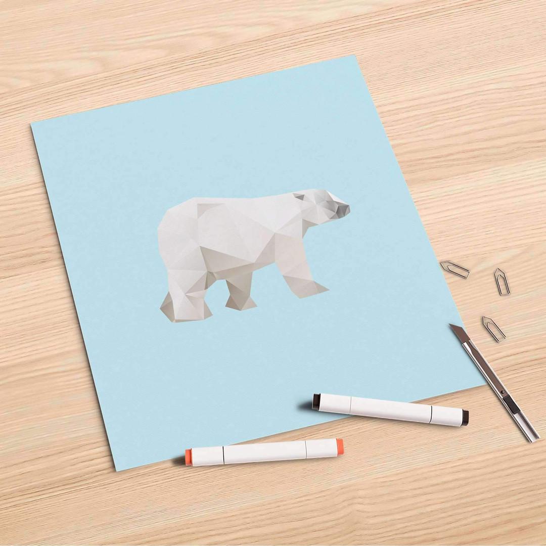 Folienbogen (30x30cm) - Origami Polar Bear - CR106896