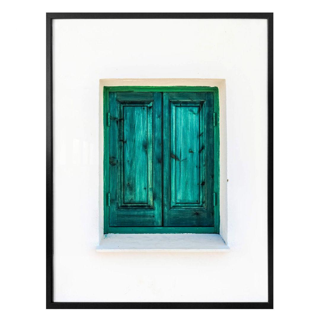 Poster Das türkise Fenster - WA257155