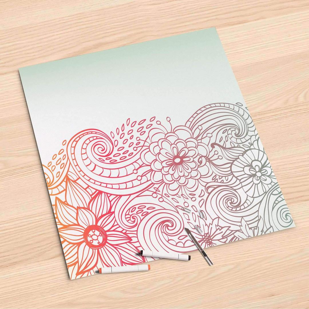 Folienbogen (60x60cm) - Floral Doodle - CR107068