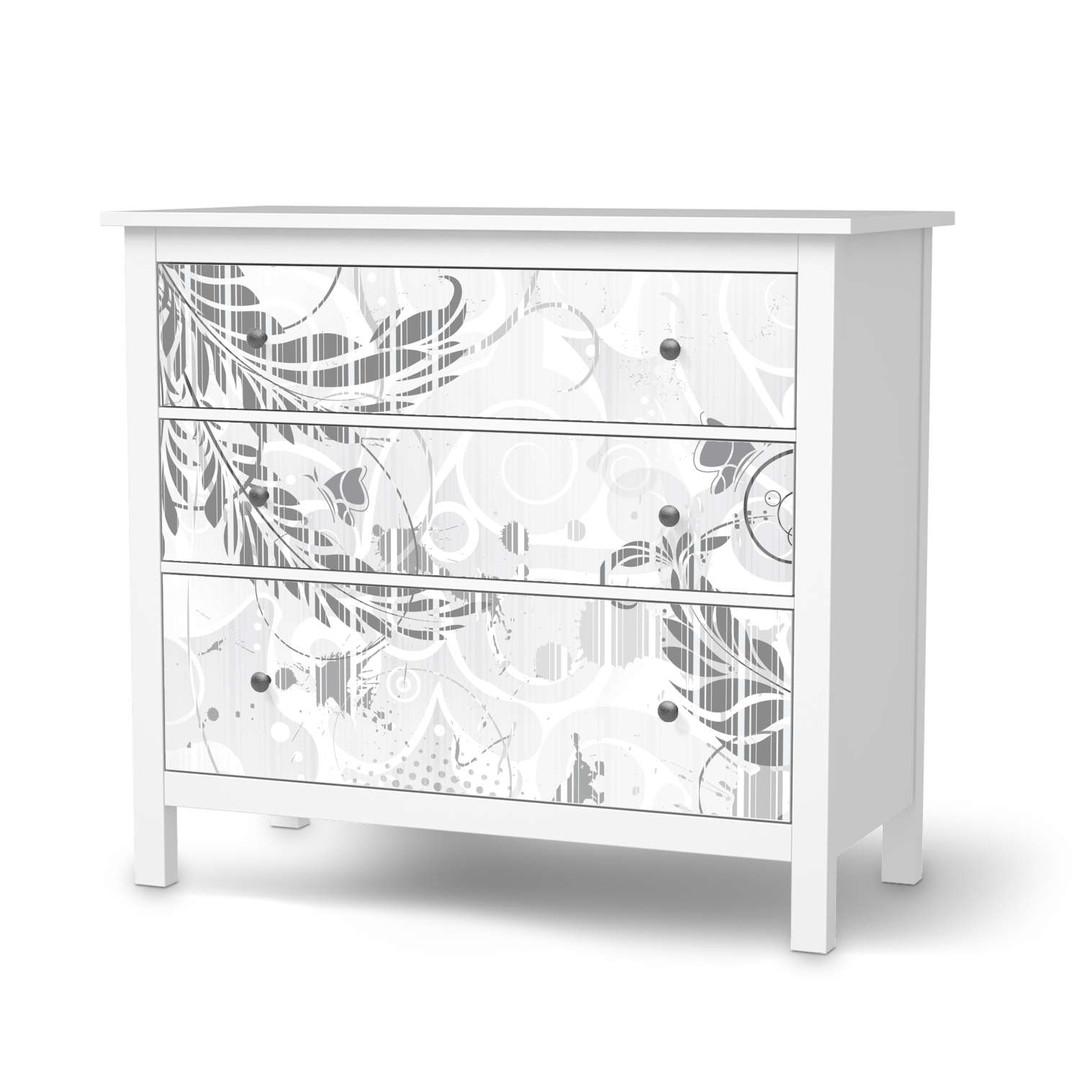 Möbelfolie IKEA Hemnes Kommode 3 Schubladen - Florals Plain 2 - CR114719