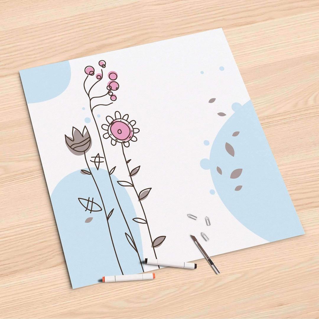 Folienbogen (60x60cm) - Flowers 3 - CR107076