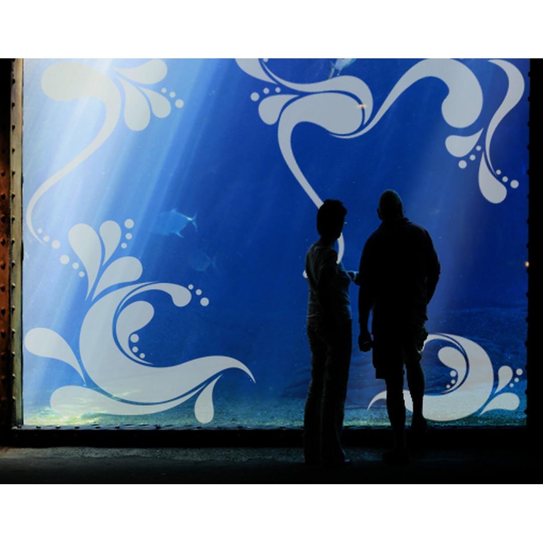 Glasdekor Big Retro Waves - CG10371
