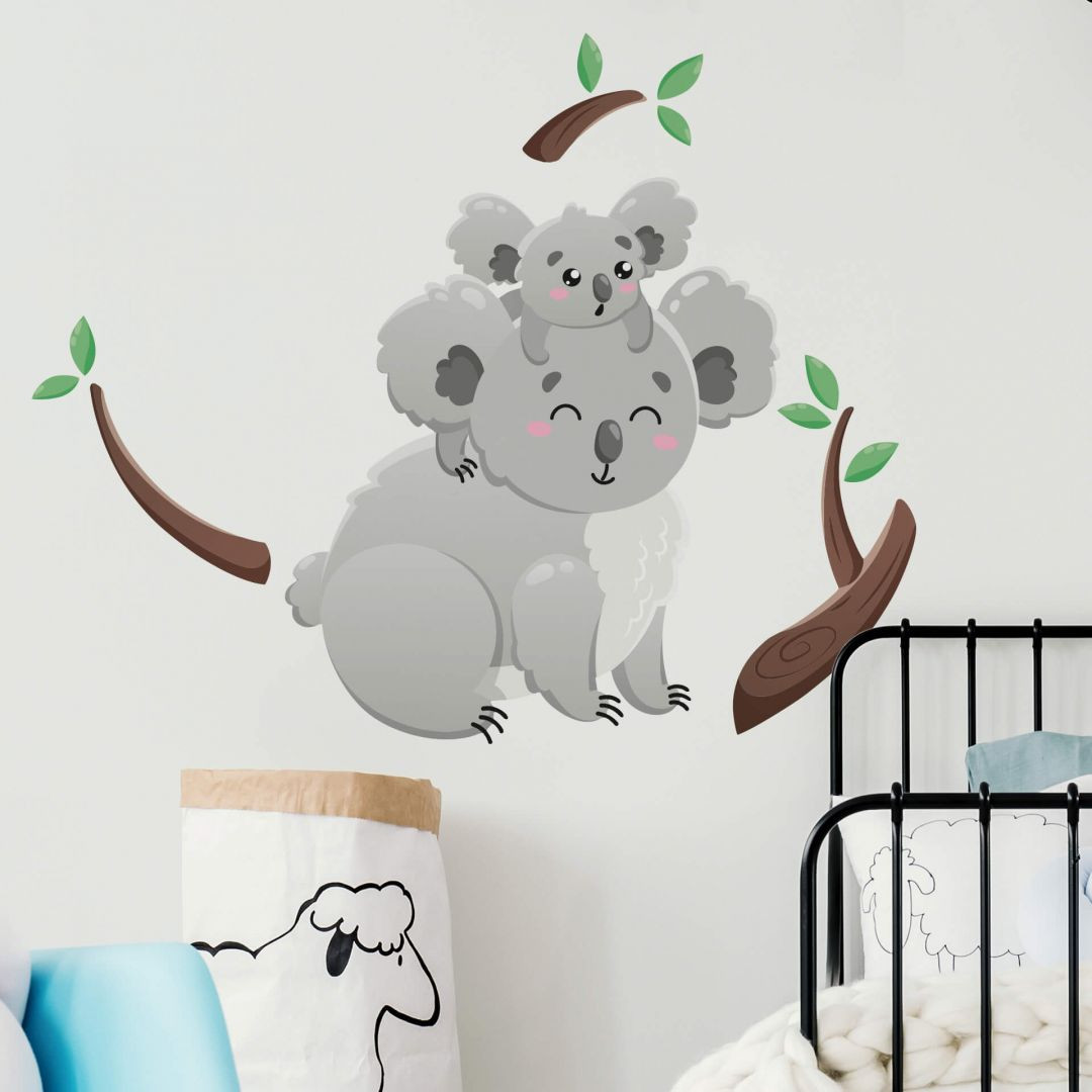 Wandtattoo Koala Auf Papas Rucken Trenddeko Ch