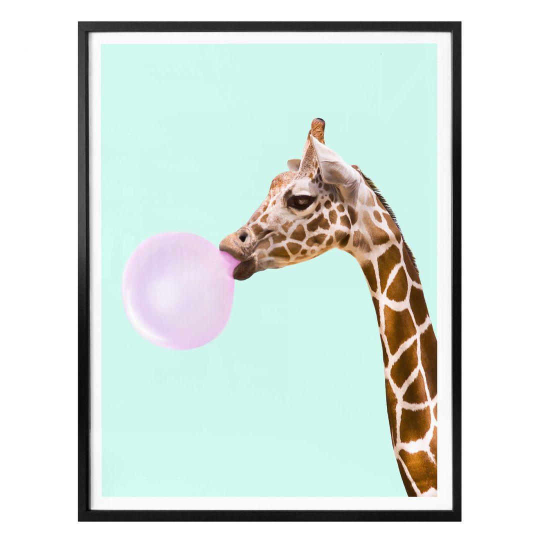 Poster Fuentes - Giraffe und ihr Kaugummi - WA257766
