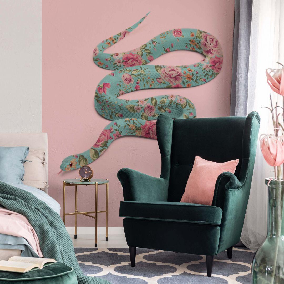 Fototapete Fuentes - Floral Snake - 192x260cm - WA271016