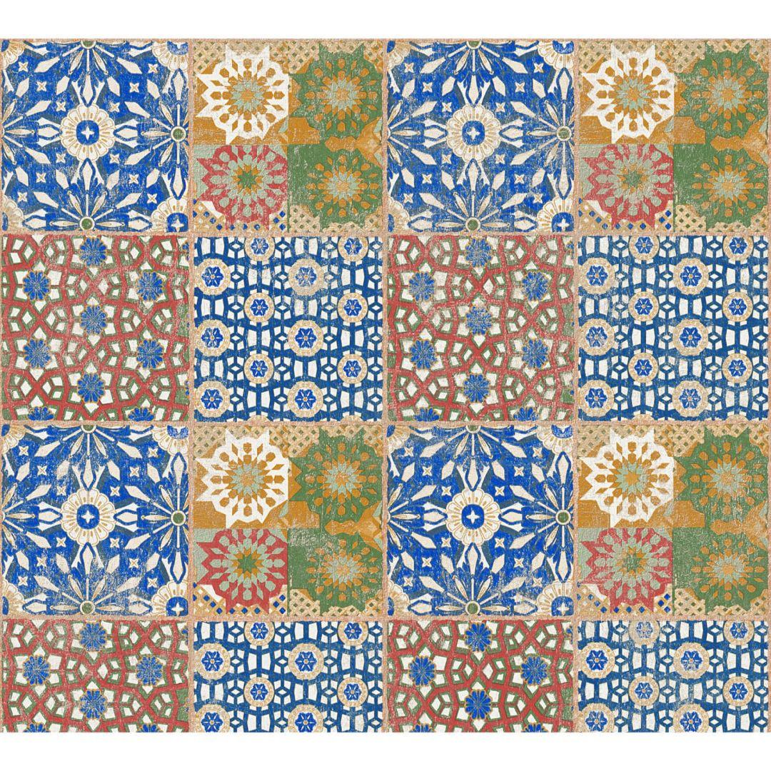 A.S. Création Vliestapete il Decoro Tapete in mediterraner Fliesen Optik braun, grün, rot - WA268433