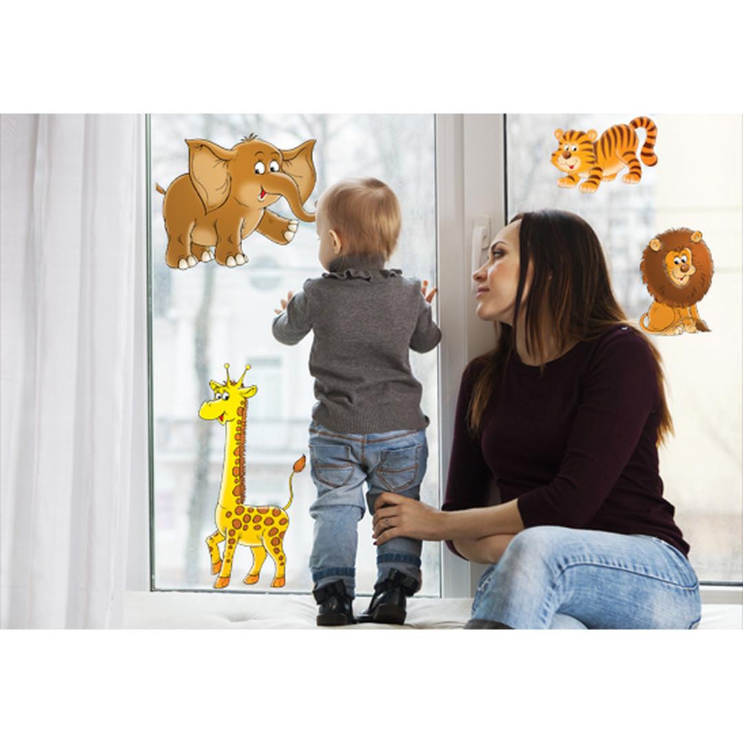 Fenstersticker Wilder Zoo - CG10200