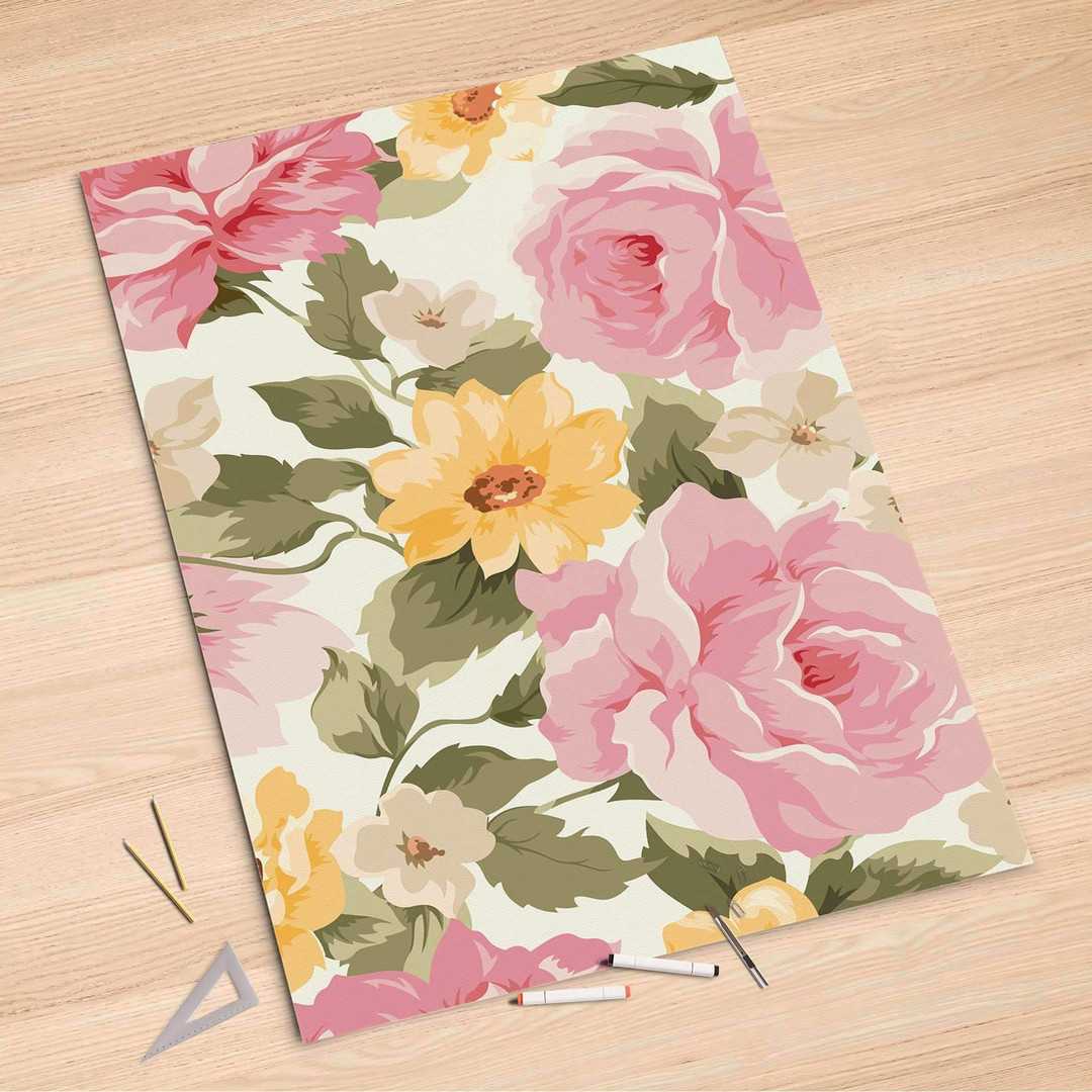 Folienbogen (100x150cm) - Vintage Flowers - CR106302