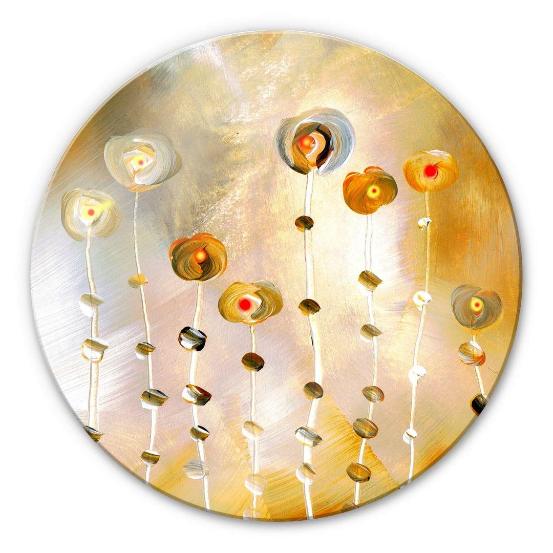 Glasbild rund Niksic - Golden Eye - WA253041