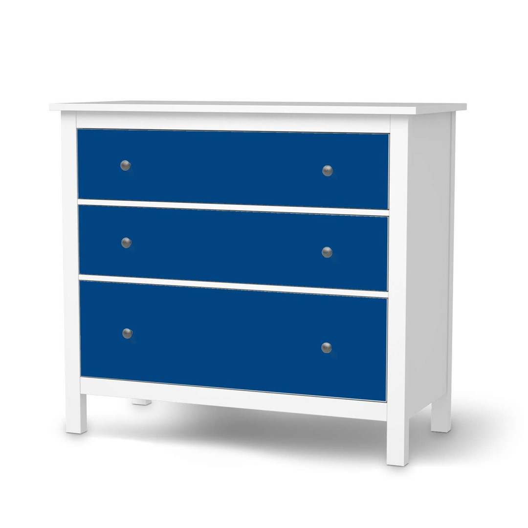 Möbelfolie IKEA Hemnes Kommode 3 Schubladen - Blau Dark - CR114691