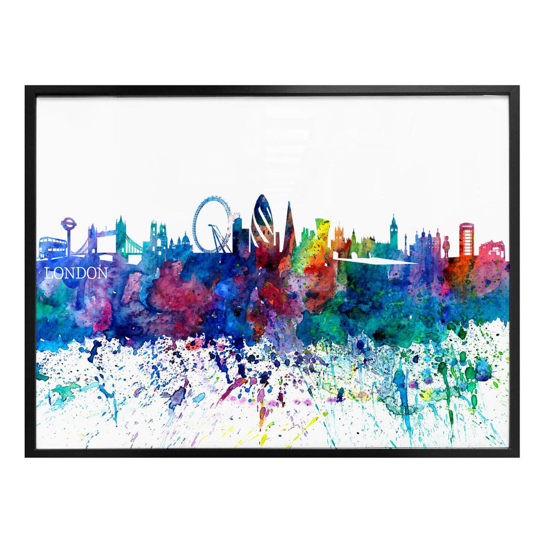 Poster Bleichner - London Aquarell Skyline - WA256901