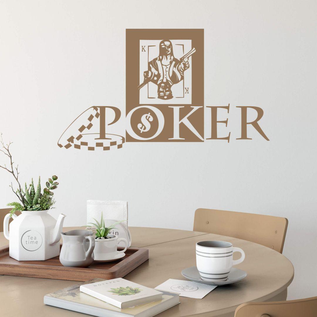 Wandtattoo Poker Game - WA287780