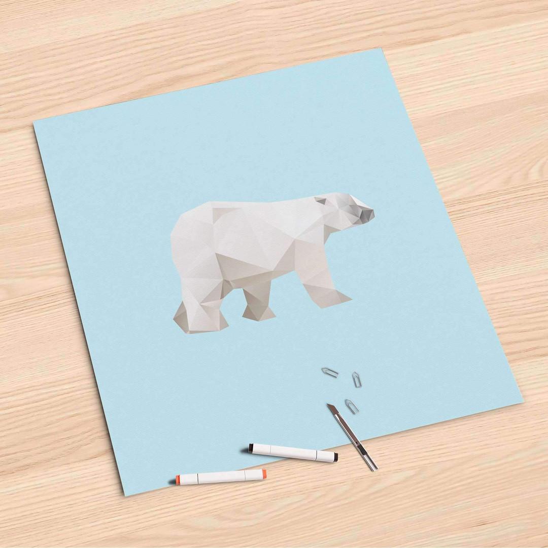 Folienbogen (60x60cm) - Origami Polar Bear - CR107146
