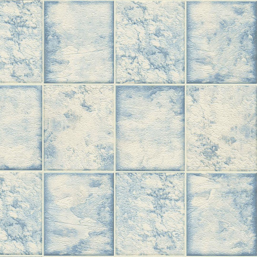 A.S. Création Tapete il Decoro in Fliesen Optik blau, metallic, weiss - WA267780